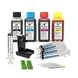 Kit de recarga para cartuchos de tinta HP 350, 351, 350 XL, 351 XL negro y color, tinta de alta calidad incluye clip y accesorios