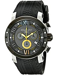 MULCO Men's MW5-3219-029 Prix Tire Analog Display Swiss Quartz Black Watch