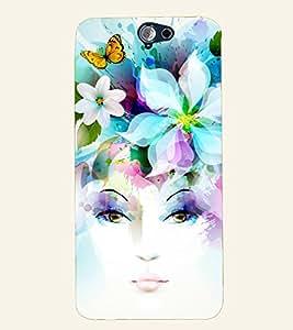 D KAUR Elegent Lady Back Case Cover for HTC A9::HTC A9