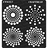 thecraftshop CrafTreat Stencil Dot Mandala Basics Reusable Painting Template for Art and Craft (6X6-inch)