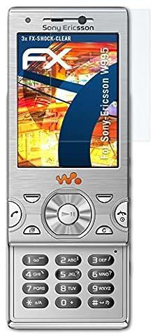Sony-Ericsson W995 Folie - 3 x atFoliX FX-Shock-Clear stoßabsorbierende ultraklare Panzerfolie