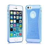 "Elegante funda transparente, gel de silicona con lentejuelas, para iPhone 6 4.7"" - Color Azul - NOVAGO®"