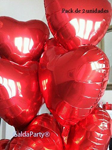 Globo del amor. GaldaParty®. Pack de 2 corazones de 25 cm ,...