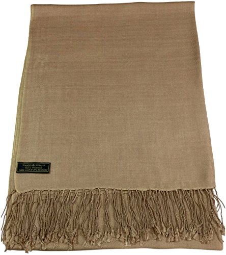 cj-apparel-beige-solid-colour-design-nepalese-shawl-pashmina-scarf-wrap-seconds-new