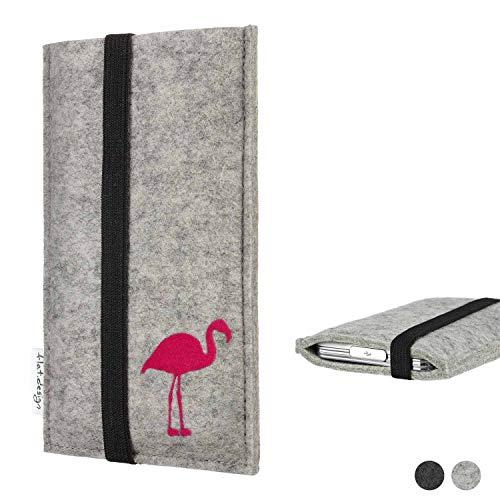 Flat.designHandy Hülle Coimbra für Shift Shift6m Made in Germany Handytasche Filz Tasche Case fair Flamingo pink