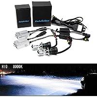 55W HID Xenon Kit di conversione digitale sottile auto, H49003doppio Hi Low fascio Xenon- 6000K Colore Bianco–2lampadine in metallo e 2Alimentatori