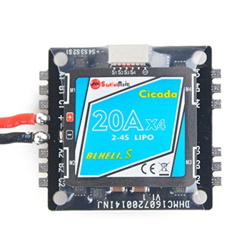 Sonnenaufgang 4 in 1 ESC 20A BLHeli-S 2-4S 30.5x30.5mm Montageloch Mini Elektronischer Geschwindigkeitsregler Spezial für FPV Racing Drone