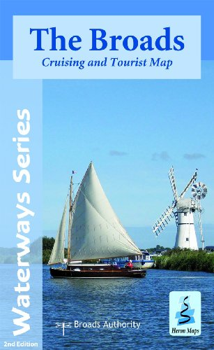The Broads: Cruising and Tourist Map (Waterways Series) por Heron Maps