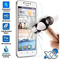 2x Cristal Templado Protector de Pantalla para Huawei Ascend G630 Glass 9H