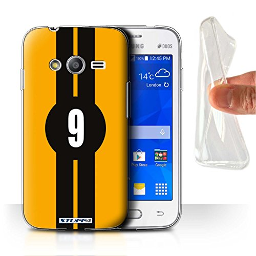 Stuff4® Gel TPU Hülle/Hülle für Samsung Galaxy Ace NXT/Ford/Gelb Muster/Rennwagen Streifen Kollektion