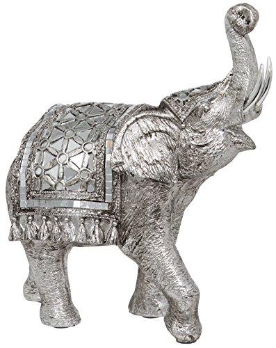 Maturi-Raised Tronco Buda Estilo Figura de Elefante, de Metal, 20,32x 5,08x 25,4cm
