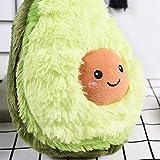 RAINBEAN Nette Avocado Plüsch Mehrere Größen Komfort Lebensmittel Kissen Spielzeug Weiche Frucht Gefüllte Kissen Squeeze Toy Dekoration für Schlafzimmer Wohnzimmer (11.81IN/30CM)