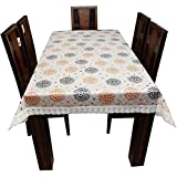 Casa Furnishing PVC Multicolor Printed 6 Seater Table Cover/Cloth Waterproof Protector 60x90 Inches Rectangle (Dining Table Cover With Lace 6 Seater)