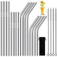 AUNEK - Paquete de 16 paletas metálicas de acero inoxidable con 4 cepillos de limpieza -