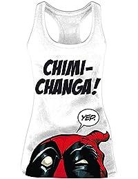 Deadpool Chimichanga camiseta de tirantes de señora algodón color blanco