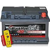 BlackMax+30% - 12 V / 85 Ah - 780 A/EN Autobatterie KFZ PKW Batterie inkl. Polfett
