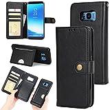 Wendapai Samsung Galaxy S Lite Luxury Edition Samsung Galaxy S8 Folio Hülle, Shell Handy-Hüllen Bumper Hülle Black