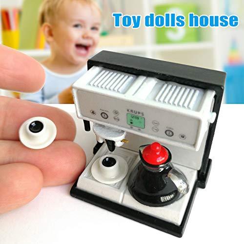Remaxm Dollhouse - Máquina de café expreso en Miniatura con Taza para ollas (Escala 1:12)