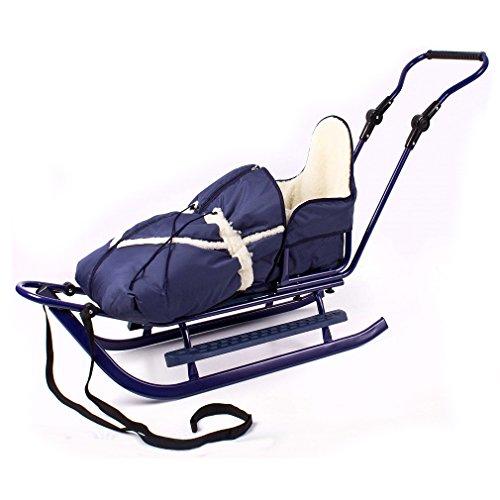 Babyschlitten Kinderschlitten Schlitten Piccolino Set (Granatblau)
