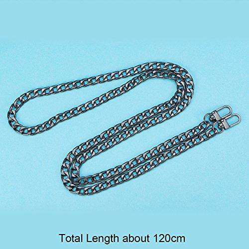 Color platino 120 x 1 cm hierro Pandahall Elite/ /Cadena de hierro para correa de bolso de mano con cierres giratorios dorado 120x1cm