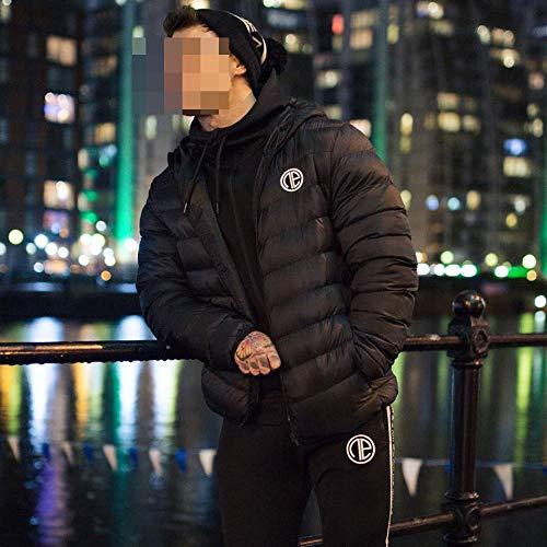 Schwarz Muskel Anzug - ZLL Fitness Sport Mantel Männer, Muskel
