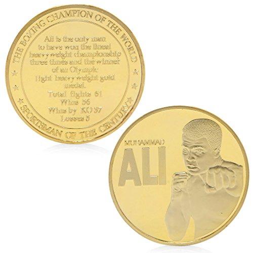 zijianZZJ Gedenkmünze, selten Der Box-Champion der Welt Muhammad Ali Gold plattiert Gedenkmünze Token (Welt Gold Der Münzen)