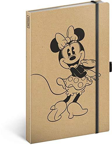 Notizbuch liniert mit Gummiband ca. A5 - Notizblock für Frauen, Mädchen, Jungen Teenager und Kinder - Schule und Büro Tagebuch Journal Notebook (Minnie Craft) -