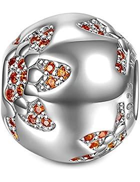 NinaQueen - Sonnenblume - Damen-Charm 925 Sterling Silber