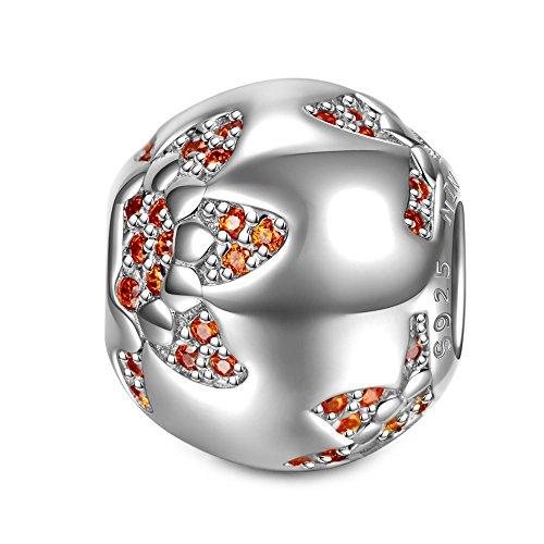 NinaQueen Sonnenblume Damen-Charm 925 Sterling Silber Bead fur pandora charms armband geschenke fur frauen geburtstagsgeschenke muttertagsgeschenke Weihnachtsgeschenke valentinstag geschenk freundin