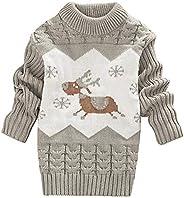 DEBAIJIA Baby Sweater Dress Niños Niña Christmas Jumper Invierno Jersey de Punto Grueso Cuello Redondo Cálido