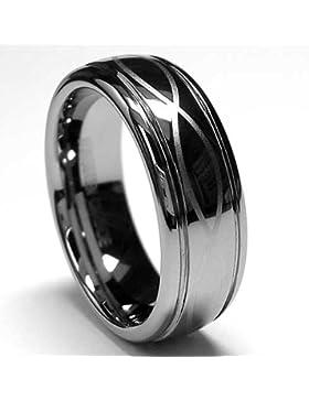 7MM Herren Wolfram Ring Mit Lasergravur Unendlichkeit Design,Bequemlichkeit Passen,Größe 52 to 67.5