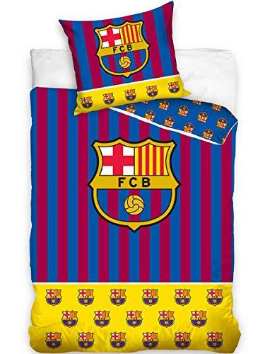 DHestia - F.C. Barcelona Juego Cama 100% Algodón