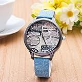 droys (TM) nueva moda vintage reloj de cuarzo de las mujeres reloj de pulsera lujo relogio feminino regalo reloj 1941, rosa (b)
