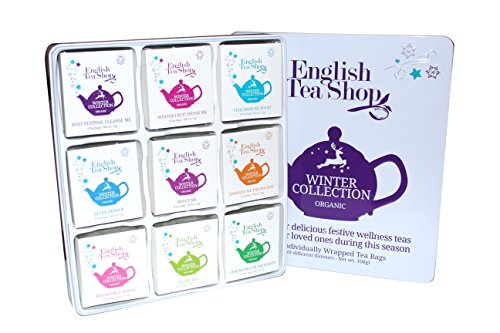 "English Tea Shop – Winter Tee-Kollektion in edler Metalldose""Winter Collection"", BIO, 72 x Teegenuss (9×8) in schöner Geschenkbox"