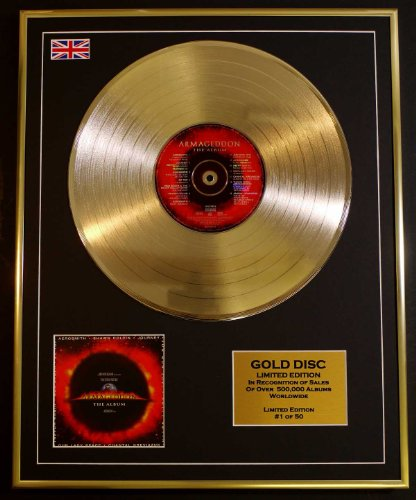 AEROSMITH/Goldene Schallplatte Record Limitierte Edition/ARMAGEDDON (Aerosmith Sammlerstücke)