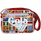 Borsa Gola Mini Redford ZCUB235RW 28x20x5.5 - Dark Red/White - Multi Nations