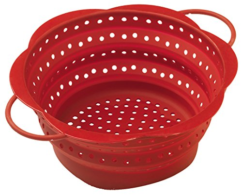 Kuhn Rikon 23690 - Escurridor plegable, color rojo
