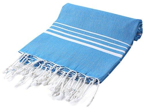 CACALA 178cm Paradise Serie Türkisch Badetücher, baumwolle, blau, 95 x 175 x 0.5 cm