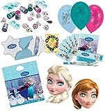 HHO Frozen Ice Die Eiskönigin Anna & ELSA Mitgebsel Schreibsets Schmucksets Tüten Karten Luftballons Masken für die Perfekte Party