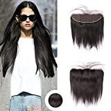Ugeat 10 Pollici Nero Naturale Free Part 360 Lace Frontal Straight 13 * 4 Human Hair
