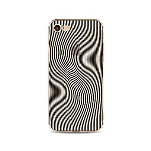 Coque iPhone 6 Plus 6s Plus Housse étui-Case Transparent Liquid Crystal en TPU Silicone Clair,Protection Ultra Mince Premium,Coque Prime pour iPhone 6 Plus 6s Plus-ligne-style 7 11