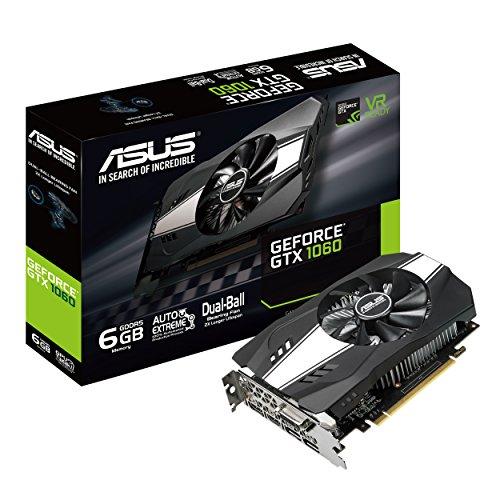 ASUS GeForce GTX 1060 6 GB ROG Strix OC Edition VR Ready HDMI 2.0 DP 1.4 Grafikkarte Boost Clock 1708 MHz -