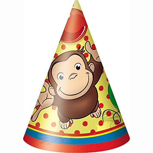 Eindeutig Industrien 21211 8 Graf Curious George Animated Party Hats - 144 Packs