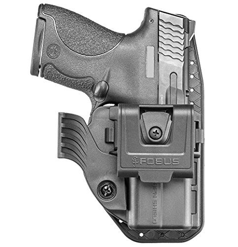 Fobus Neu APN verdeckte Trage IWB Im Inneren der Gürtel Retention Einstellung & Rotations- Gürtelclip für Smith & Wesson Shield 9mm & .40cal Linke und rechte Hand -