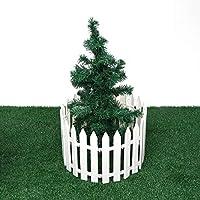KX-YF Niños Chaqueta Impermeable Valla de plástico 12PCS Decoración Blanca Navidad casera del árbol de Navidad Adornos Miniatura Frontera de la Hierba del césped Edge White Fence Chubasquero