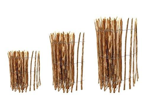 *Staketenzaun Haselnuss – 100 x 500 cm ( Lattenabstand 3-5 cm ) – Roll-Zaun mit gut gespaltenen Staketen – Natur Haselnusszaun als Gartenzaun oder Teichumrandung — Kostenloser Versand —*