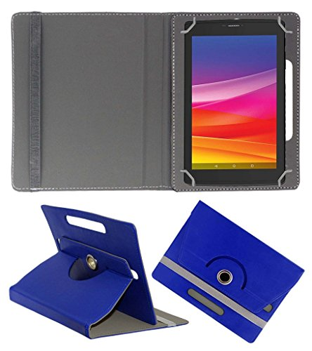 Acm Rotating 360° Leather Flip Case For Micromax Canvas Tab P702 Tablet Cover Stand Dark Blue  available at amazon for Rs.149