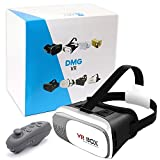 #1: DMG VR BOX 2nd Virtual Reality Headset 3D Video Movie Game Glasses +Remote Controller For 4
