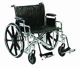 Drive Devilbiss Healthcare Sentra EG/Heavy Duty XXL chrom selbstfahrend Rollstuhl (61cm Sitz Breite)