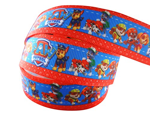 2m-x-22mm-NICK-JR-PAW-PATROL-GROSGRAIN-RIBBON-FOR-BIRTHDAY-CAKES-WEDDING-CAKES-GIFT-WRAP-WRAPPING-MOTHERS-DAY